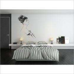 오드리헵번 뮤럴 벽지 포인트 벽지 안방 침실 벽지
