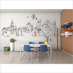 일러스트레이션 포인트 벽지 뮤럴 벽지 그림 벽지