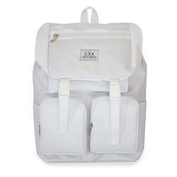 FLAP POCKET BackPack - white