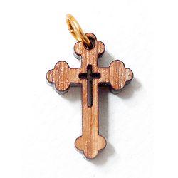 공정무역 올리브나무 펜던트 - 십자가1