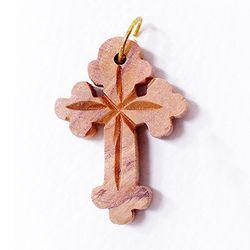 공정무역 올리브나무 펜던트 - 십자가2