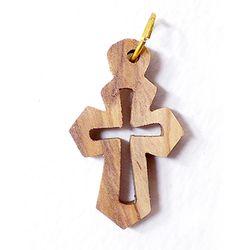 공정무역 올리브나무 펜던트 - 십자가3