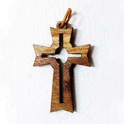 공정무역 올리브나무 펜던트 - 십자가5