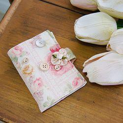 쉐비 플라워 카드 지갑