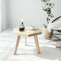 원목 헥사곤 테이블