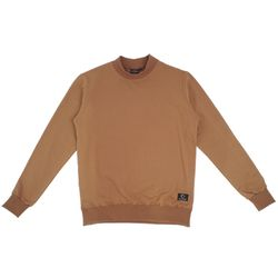 HLF NECK SWEAT SHIRT - MUSTARD