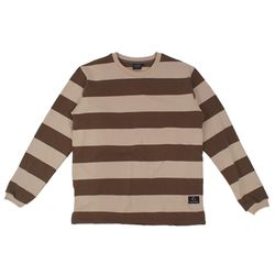 STRIPE LONG SLEEVE - KHAKI