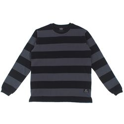 STRIPE LONG SLEEVE - BLACK