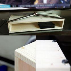 원목 삼나무 TV 받침대 BOX