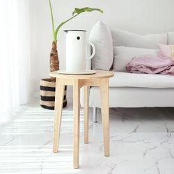 원목 원형 사이드 테이블 S (미니테이블)