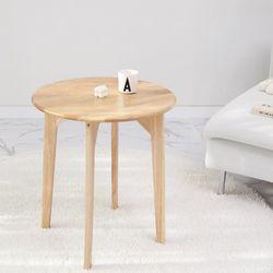 원목 원형 사이드 테이블 L (미니테이블)