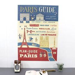 cavallini 포스터+보관통 Set - Paris