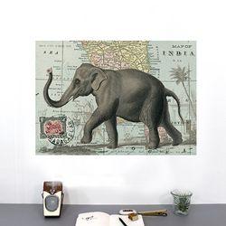 cavallini 포스터+보관통 Set - Elephant