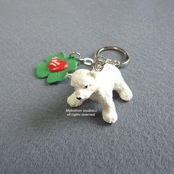 [Mybutton]Polar bear Keyring.폴라베어 키링