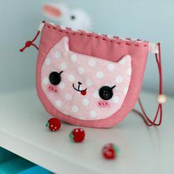 [DIY]핑크고양이 미니가방 만들기 패키지