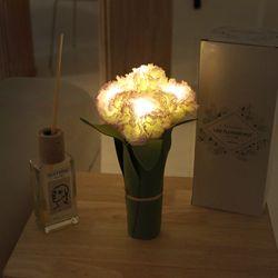 화이트 퍼플 카네이션 LED 조명