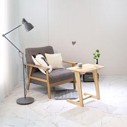원목 소파 사이드 테이블 600