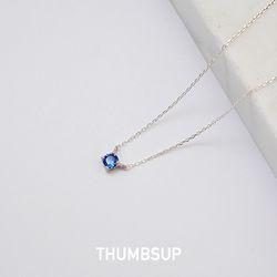 [925실버] 사파이어 목걸이