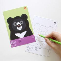 반달가슴곰 멸종위기동물 컬러링 엽서 2in1