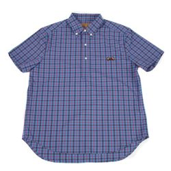Gingham check shirt(blue)