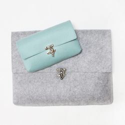 Felt case clutch purse-small