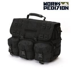 웍스페디션 - 제네바 전술 노트북 가방(BLACK )