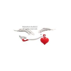 [Mybutton]Seagull with Heart.갈매기 동화브로치