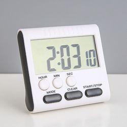 패션 스톱워치+시계 타이머 알람시계 무소음 탁상시계