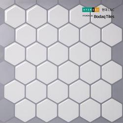 [보닥타일]손쉽게 붙이는 보닥타일 허니컴 모노화이트