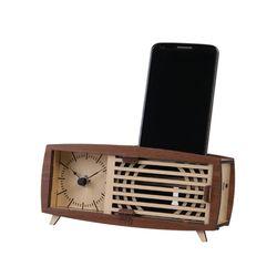 [WOODSUM] 레트로 라디오 시계