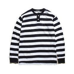 HENRY STRIPE T-SHIRT BLACK