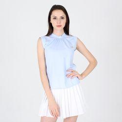 토이 디자인 자체제작 하늘색 민소매 블라우스 셔츠