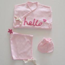 날아라미쎄스깡 안녕아가 핑크 배냇저고리 만들기