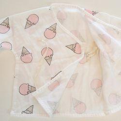 날아라미쎄스깡 아이스크림 핑크 배냇저고리 여름용
