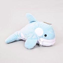 돌고래인형 파우치 - 하늘색