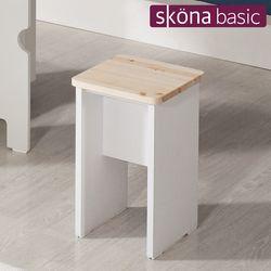 크라스 스툴 의자(레드파인 원목)식탁 의자
