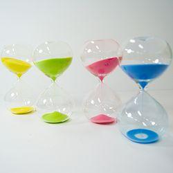 4컬러 디자인 유리 모래 시계 - 15분