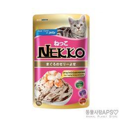 네코 참치토핑 새우&조개 파우치 70g