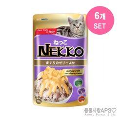 네코 참치토핑 치즈 파우치 70g x6개(set)