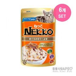 네코 참치토핑 가다랑어 파우치 70g x6개(set)