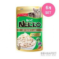 네코 참치토핑 닭고기 파우치 70g x6개(set)