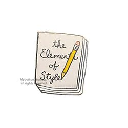 [Mybutton]BOOKPINS010 The Elements of Style 북뱃지