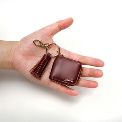 REAL MINI TASSEL WALLET-ZIP