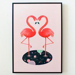 cosmic flamingo A3 포스터액자