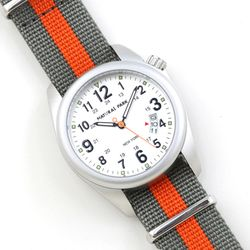 NaturalPark Camper with nato strap NP1325-WH-NTG