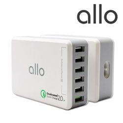 알로코리아 ALLO 6포트 고속 멀티 충전기 UC601QC