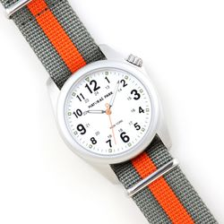 NaturalPark Camper with nato strap NP1312-WH-NTG