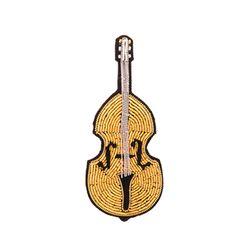 마콩 자수브로치_바이올린