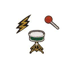 마콩 자수브로치 SET_드럼
