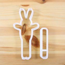 막대 쿠키를 품은 토끼 쿠키커터